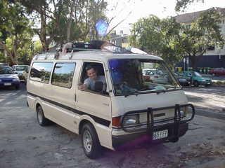 Fausto nel nostro furgone