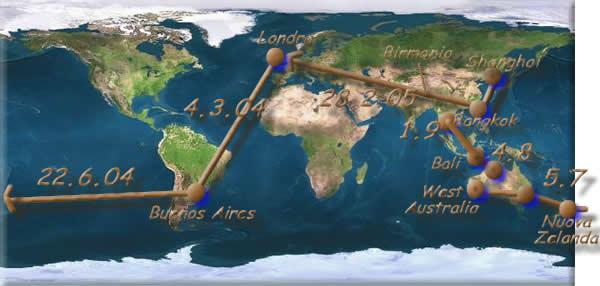 La mappa del mio Giro del Mondo