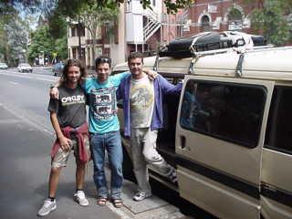 Fausto, Giuseppe e Paolo a St. Kilda