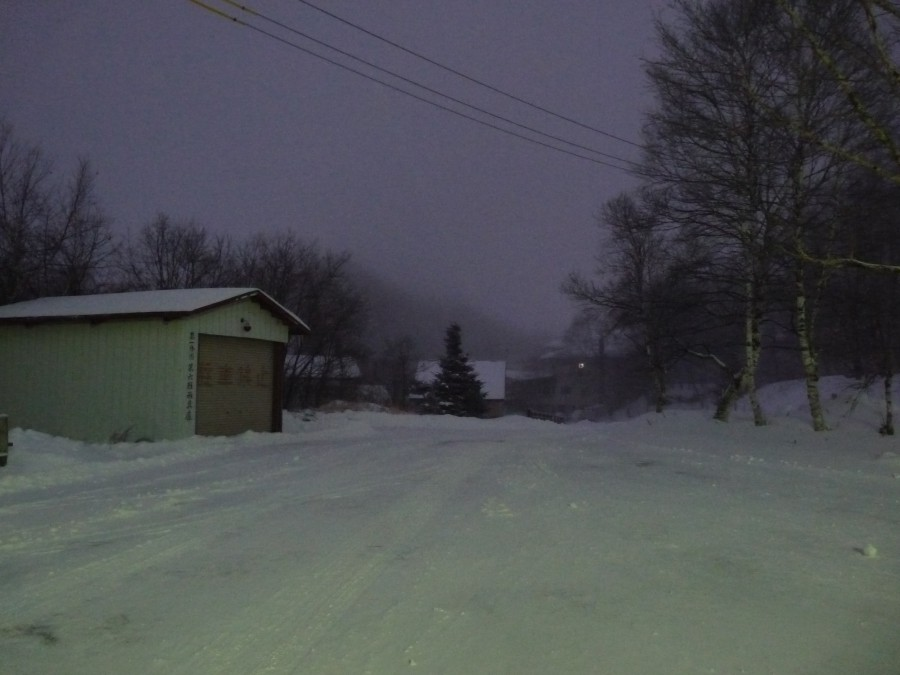 E si ritrovarono nella notte in una strada buia e innevata...(Foto rubata dal blog di Andrea. All rights me ne freg)