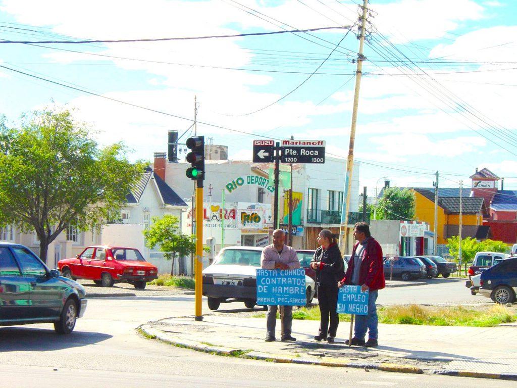 Una micro manifestazione sindacale in Argentina
